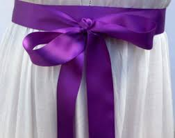 sash ribbon satin ribbon sash etsy