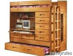 bunk bed with desk dresser and trundle bunk bed trundle desk woodworking loft plans all in one toy chest