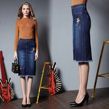 new 2017 summer plus big size denim pencil skirt short slim jeans