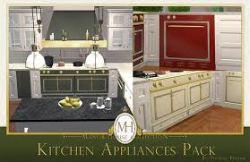 House Kitchen Appliances - mod the sims manor house collection kitchen appliances pack