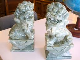 foo dog bookends foo fighters marble foo dog bookends casa vintage