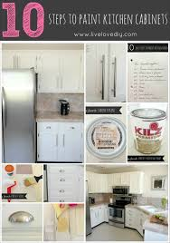 LiveLoveDIY How To Paint Kitchen Cabinets In  Easy Steps - Diy paint kitchen cabinets
