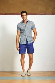 mens light blue shorts men s light blue floral short sleeve shirt blue shorts beige suede