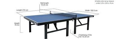 ping pong table dimensions inches ping pong table dimensions official ping pong table size dimensions