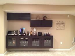 coffee bar using ikea besta cabinets basement pinterest bar