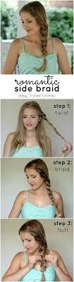 easiest type of diy hair braiding best 25 easy side braid ideas on pinterest side braids side