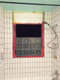 glass block windows in bathroom