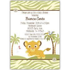 lion king baby shower invitation templates u2013 unitedarmy info