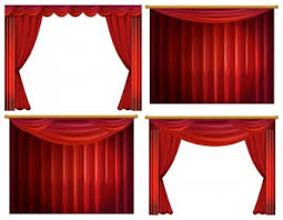 red curtain template vector free download