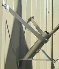 Wrought Iron Flag Pole Holder Aluminium Wall Bracket Christmas Tree Holder Flag Pole Holder