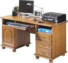bureau informatique en bois bureau ministre informatique chêne rustique