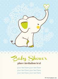 free sample elephant baby shower invitations and blue white