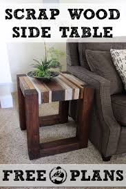 Wood End Table Plans Free by Scrap Wood Side Table Free Diy Tutorial Rogue Engineer