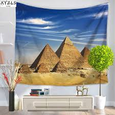 xyzls pyramids wall tapestry 150 200cm polyester bedroom