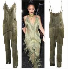 khaki jumpsuit khaki green lace fringe tassel jumpsuit boutique size xs l