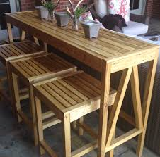 Free Wooden Patio Table Plans by Ana White Sutton Custom Outdoor Bar Stools Diy Projects