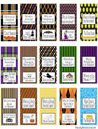 halloween joke miniature chocolate wrapper printables everyday