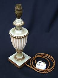 Urn Table Lamp 20th Century Decorative Plaster Urn Table Lamp