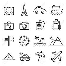 travel symbols images Travel symbols and tourism signs vector illustration royalty free jpg