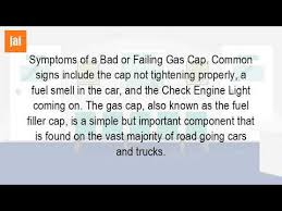 bad gas in car check engine light what are the symptoms of a bad fuel cap youtube