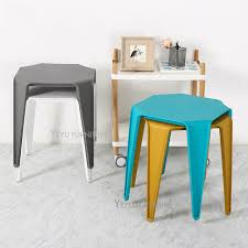 side table for living room modern design stackable colorful loft style plastic side table