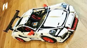 lego technic porsche 911 gt3 rs конструктор decool 3368 в аналог lego technic 42056