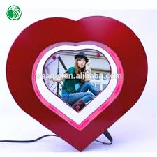 heart shaped items two sides heart shaped magnetic levitation photo frame different