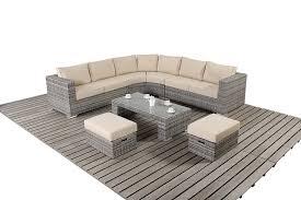 Rattan Curved Sofa Home Design Amazing Corner Outdoor Sofa Ikayaa 5pcs Pe Rattan