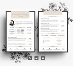 creative resume cover letter resume template cv template business card cover letter zoom