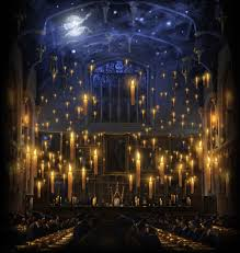 great hall night skies harry potter and hogwarts