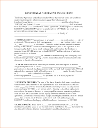 Rental House Lease Agreement Template Awesome Simple Rental Agreement Pictures Office Worker Resume