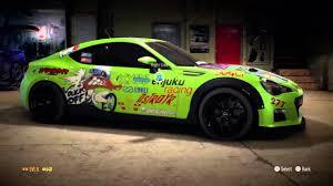 subaru brz custom paint nfs decals and drift subaru brz youtube