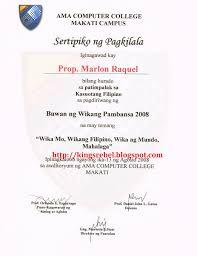 ng tagalog resume