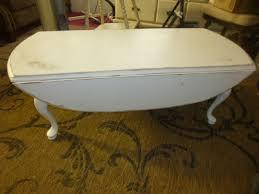 Drop Leaf Coffee Table Oval Drop Leaf Coffee Table Aj S Trash2treasure
