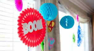 Hanging Party Decorations Kara U0027s Party Ideas Girly Superhero Party Archives Kara U0027s Party Ideas