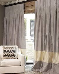 Two Tone Curtains Lovable Two Tone Curtains And Silk Bordered Classic Linen Custom