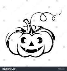 black silhouette jackolantern halloween pumpkin vector stock