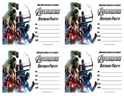 the avengers birthday party invitations free printable
