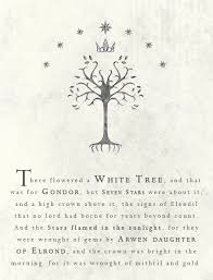feanope my tolkien quotes 1 the white tree of gondor