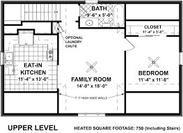 upper level floor plan of garage plan 7124 eat in kitchen family