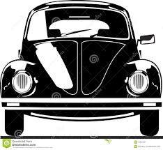 volkswagen beetle clipart vw beetle front view stock vector image of vector illustration