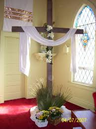 easter church decorations just the cross homeade for our vow renwal alter the white
