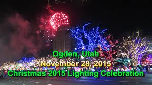 christmas light installation utah christmas 2015 lighting celebration ogden city utah 11 28 2015
