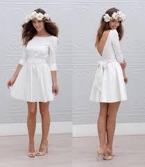 designer short mini reception wedding dresses 2017 a line 3 4