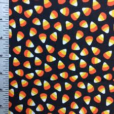 candy corn fabric by the yard orange and black halloween fabric