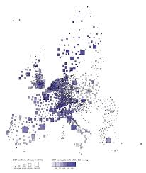Where Is Germany On The Map by This Map Shows At A Glance Where Europe U0027s Richest Cities And