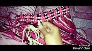 youtube cara membuat tas rajut dari tali kur talikur motif silang dobel