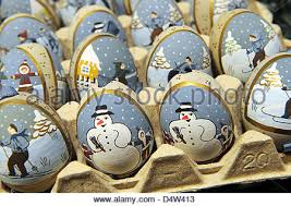 painted easter eggs for sale painted easter eggs in a shop stock photo royalty free image