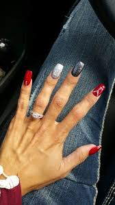 best 25 red glitter nails ideas on pinterest red nail red nail