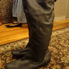 womens flat black boots size 12 80 mossimo supply co shoes s size 12 knee high flat